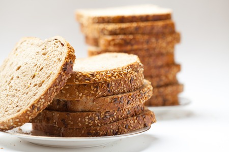 fresh tasty sliced raisin bread. stuido shot photo