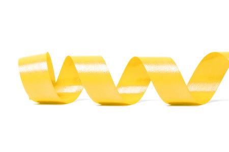 pancreatic cancer: yellow satin ribbon on white background. studio shot