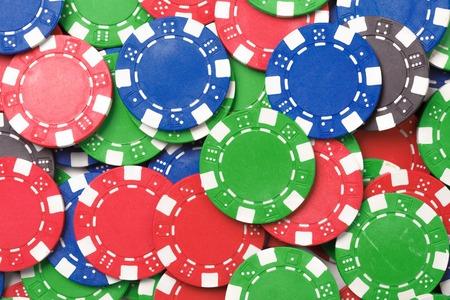 chaos: Gaming chips. Chaos abstract color photo closeup