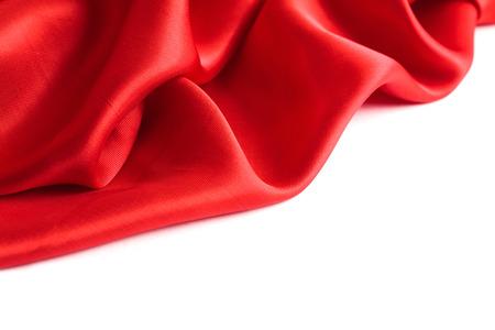 studio shot: red cloth on a white background. studio shot