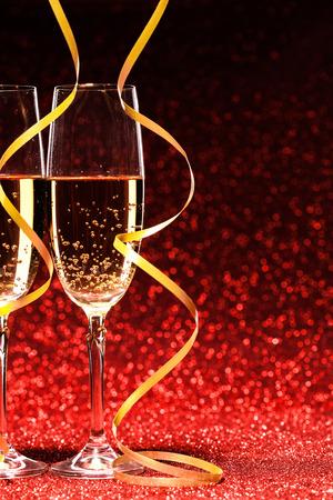 Paar glas champagne. studio-opname Stockfoto