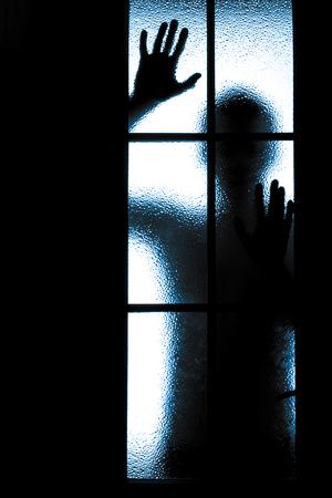 diffuus silhouet van mensen