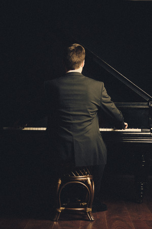 handcarves: Piano classical music musician player Stock Photo