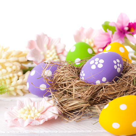 Easter Eggs with Nest
