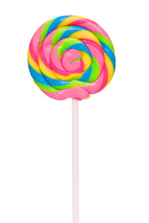 Colorful spiral lollipop