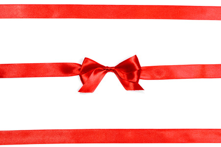 red ribbon: red ribbon with bow