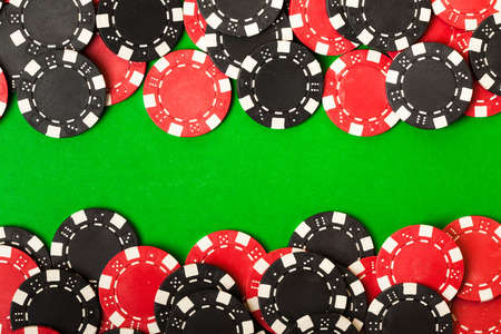 texas hold em: Red and black gambling chips
