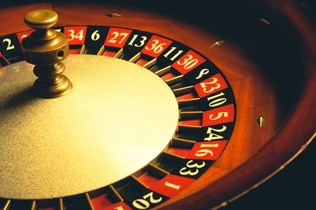 roulette: Vecchia ruota della Roulette. Serie casinò. girato in studio Archivio Fotografico