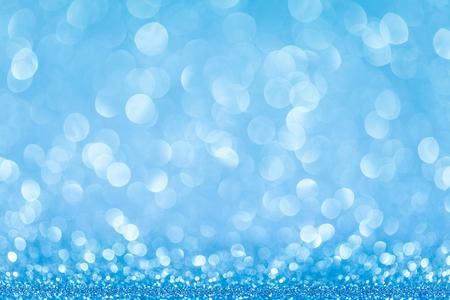 feliz navidad: blue bokeh abstract light backgrounds. studio shot Stock Photo