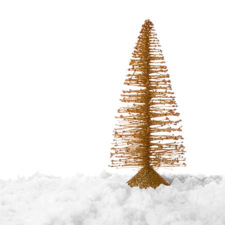fake christmas tree: Christmas tree decoration isolated on white background