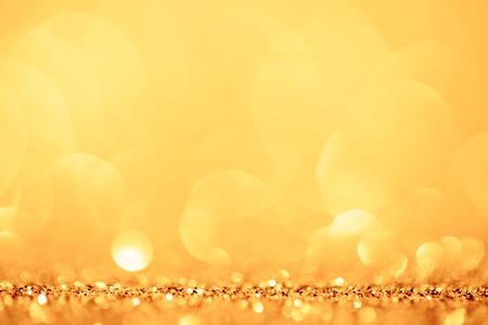 金色と黄色の円の背景。 写真素材
