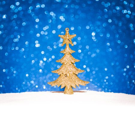 hyperspace: christmas fir tree decoration on glitter background Stock Photo