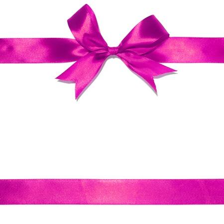 Purple Ribbon und Bogen isoliert auf weißem Hintergrund Standard-Bild - 48887630