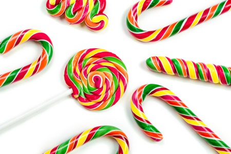christmas candies: christmas candies isolated on white background. Stock Photo