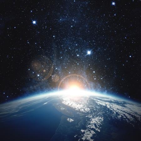 Zonsopgang over de Aarde - Elementen van deze afbeelding ingericht door NASA