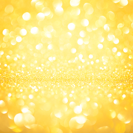 Christmas background gold bokeh out of focus Stock Photo