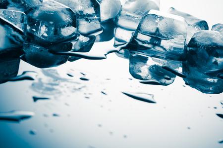 Ice cubes on the mirror