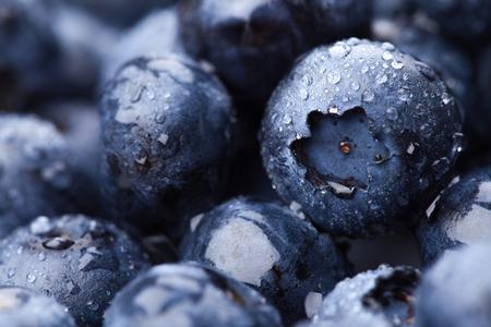 Wet fresh Blueberry background Stock Photo