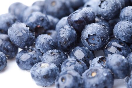 Ripe and juicy fresh picked blueberries
