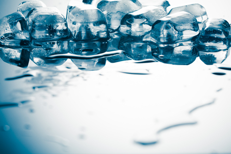 Ice cubes on reflex table