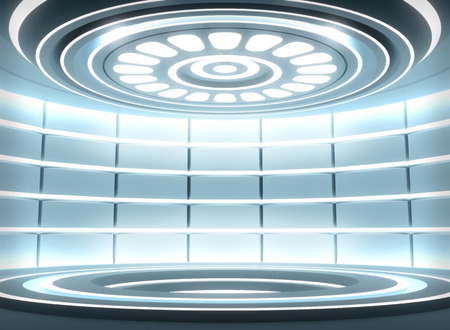 Futuristic empty stage