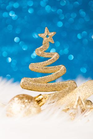 Christmas Tree - Golden Glitter sparkling