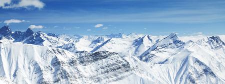 Landscape mountain winter. Stock Photo