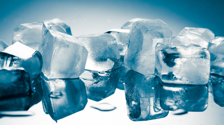 pile of different ice cubes Stock Photo