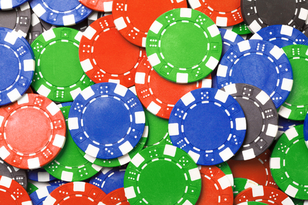 color red blue green poker chips background
