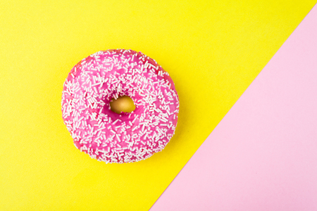 tasty donut with topping