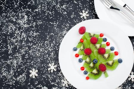 Healthy Christmas dessert snack breakfast for kids Stockfoto