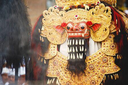 Traditional Balinese Barong figure on street ceremony in island Bali, Indonesia Stock Photo