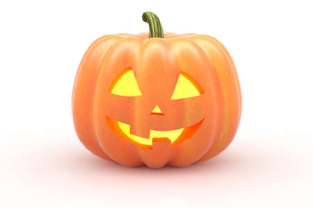 Halloween pumpkin on white background. 3d rendering Stock fotó