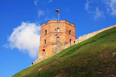 eastern europe: Historic Gediminas tower in Vilnius, Lithuania