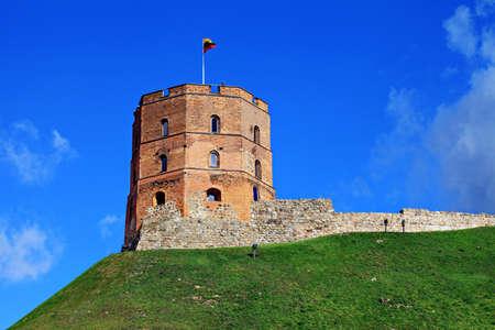 eastern europe: Gediminas tower in Vilnius, Lithuania