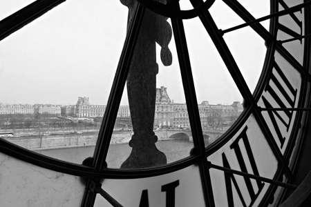 museums: Clock in Orsay museum   Paris, France