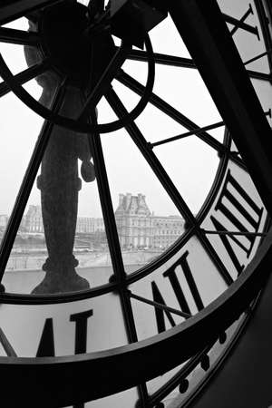 Closk in Orsay museum  Paris, France  Editorial