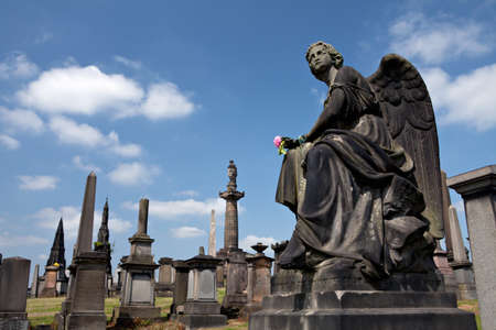 necropolis: Angel sculpture  Necropolis in  Glasgow, Scotland