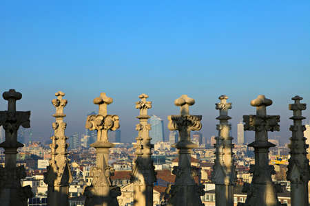 Roof of the famous Milan Cathedral  Milan, Italy photo