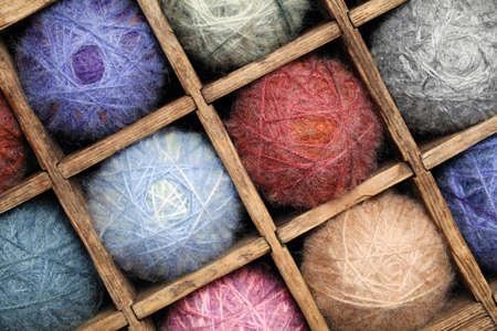 mohair: Colorful wool yarn  Stock Photo
