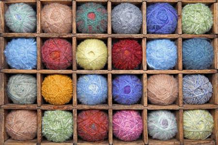 mohair: Colorful wool yarns  Stock Photo