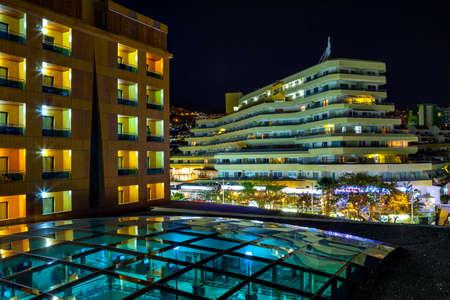 adeje: Costa Adeje at night, Tenerife, Spain  Editorial