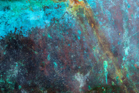 corroded:      Copper background Background image of scratched antique copper vessel surface texture
