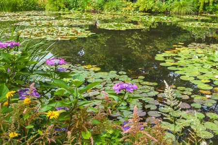 View of the garden in Giverny, France , where Claude Monet lived and created for long years  photo