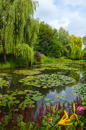 long lived: View of the garden in Giverny, France , where Claude Monet lived and created for long years