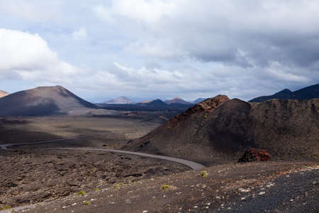 volcanic landscape: Volcanic landscape of Lanzarote, Canary Islands, Spain.