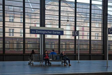 garten: BERLIN, GERMANY - NOVEMBER 13, 2014 :  Berlin Zoologischer Garten (Bahnhof ZOO) railway station. Zoo was the main train station in West Berlin during the Cold War.