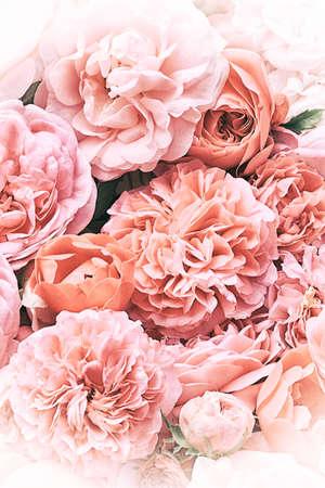 핑크 빈티지 꽃