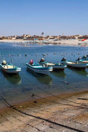 musandam: Fishing boats in Mirbat, Oman Stock Photo