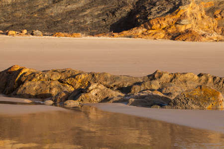 high tide: High tide in wild coast of Atlantic Ocean in Portugal.
